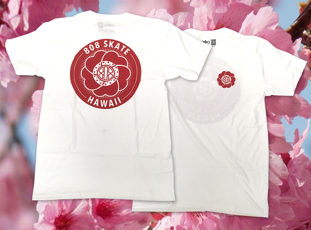 808 Skate Sakura Tee in-store | online now