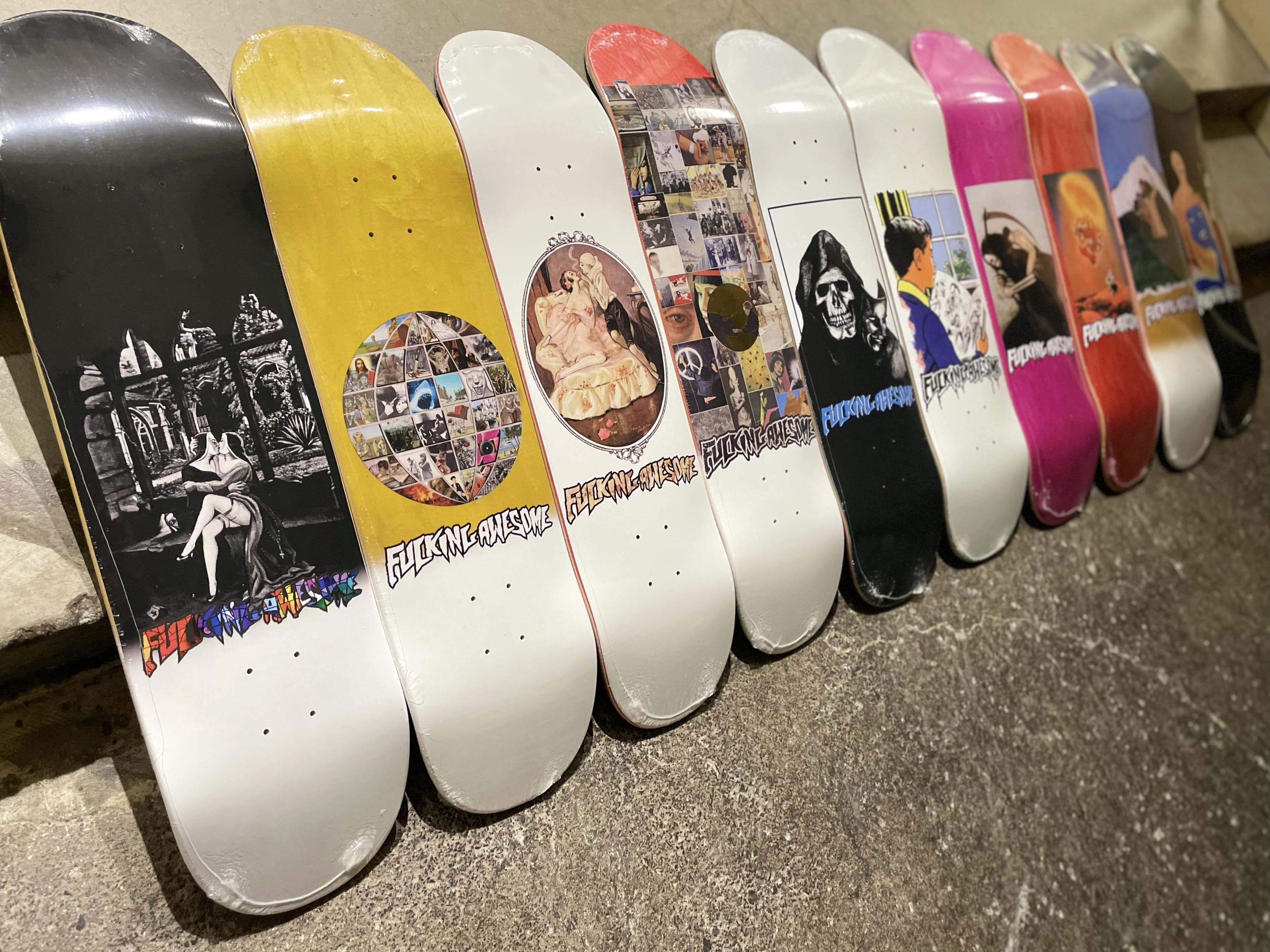Fall 2021 Fucking Awesome Decks available in-store now