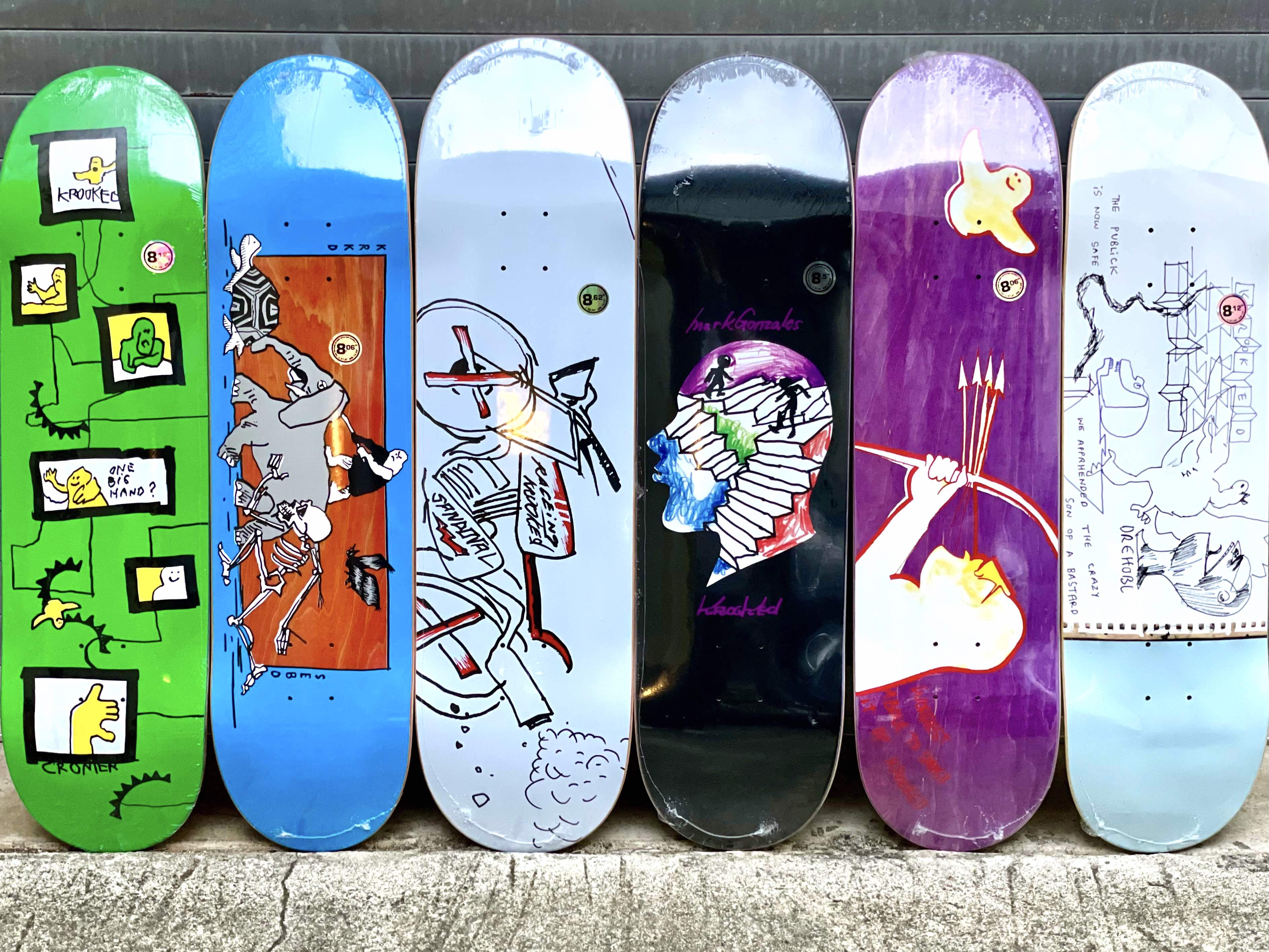 All new Krooked pro decks available in-store | online