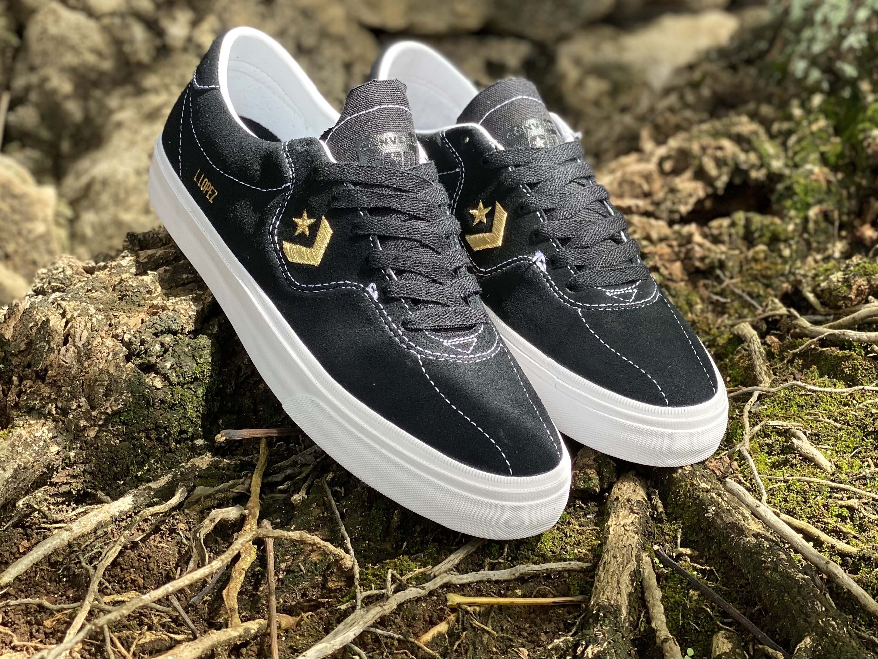 Converse Cons Louie Lopez Pro in black & gold in-store | online
