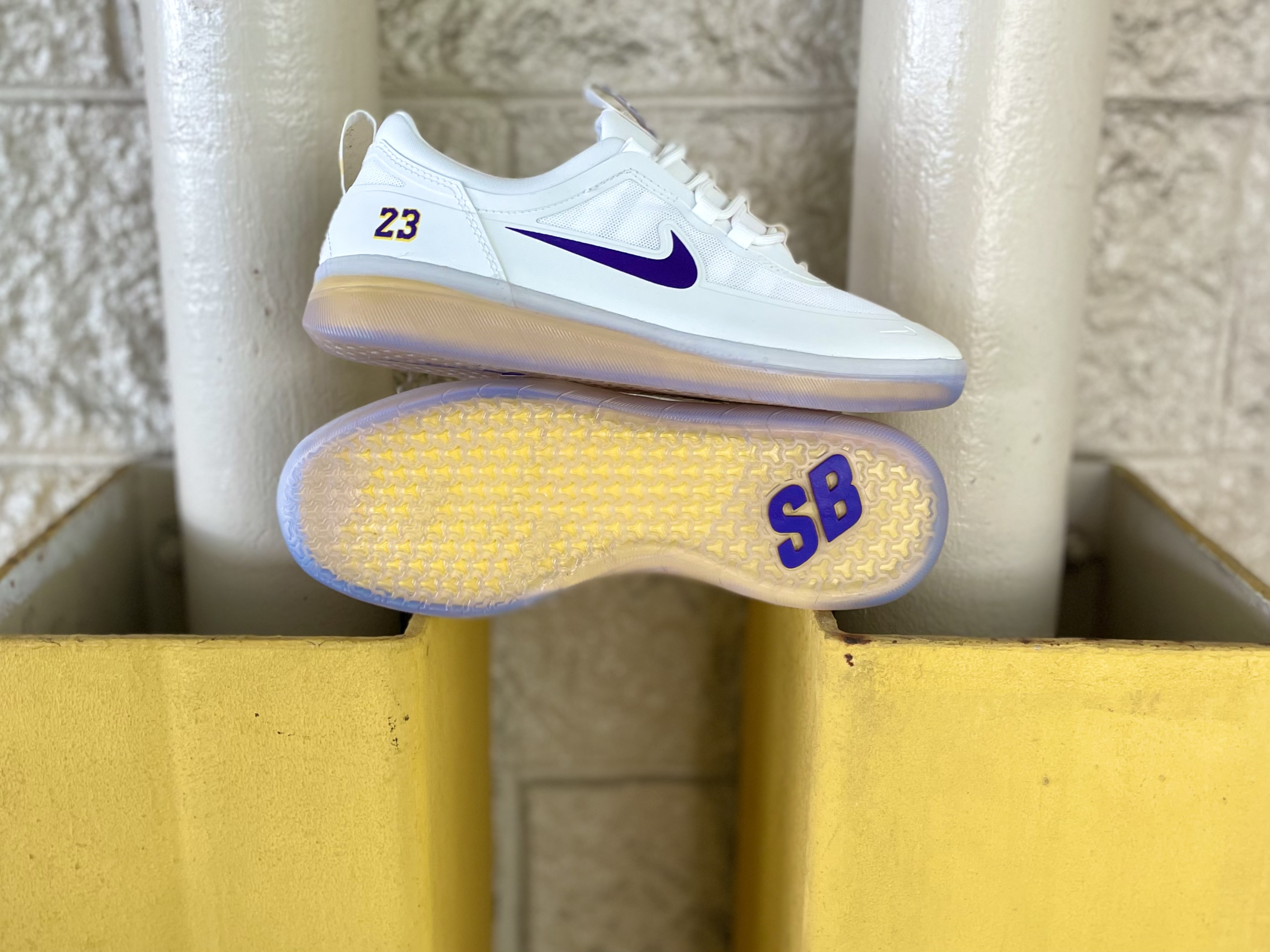 Nike SB Nyjah Free II x Lakers now available in-store
